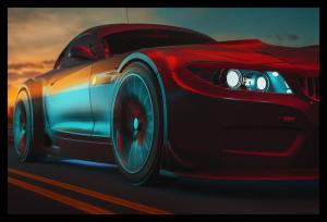 Tablou modern pe panou - modern sport car design0