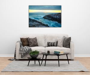 Tablou modern pe panou - cliff mountain ocean1