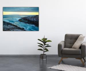 Tablou modern pe panou - cliff mountain ocean4