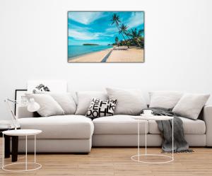 Tablou modern pe panou - beautiful tropical beach3