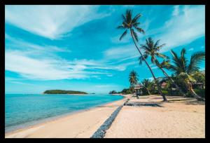 Tablou modern pe panou - beautiful tropical beach0