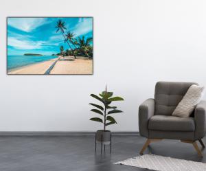 Tablou modern pe panou - beautiful tropical beach4