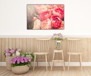 Tablou modern pe panou - blooming flowers4