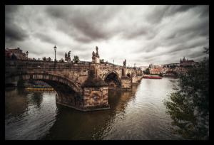 Tablou modern pe panou - Charles bridge Prague0