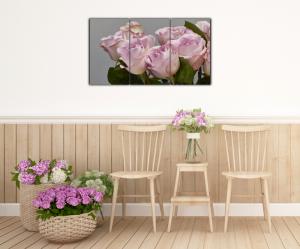 Tablou modern pe panou - bouquet blooming pink roses14