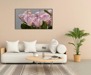 Tablou modern pe panou - bouquet blooming pink roses12