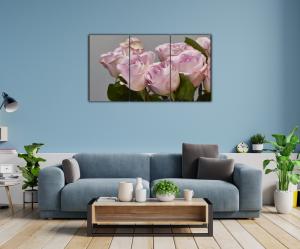 Tablou modern pe panou - bouquet blooming pink roses11
