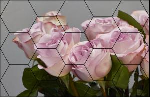 Tablou modern pe panou - bouquet blooming pink roses5