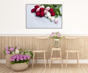 Tablou modern pe panou - bouquet tulips4