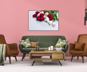 Tablou modern pe panou - bouquet tulips3