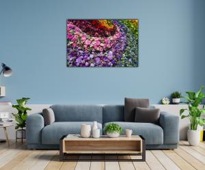 Tablou modern pe panou - colorful flowers1