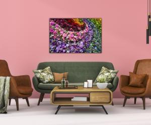 Tablou modern pe panou - colorful flowers3