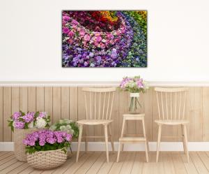 Tablou modern pe panou - colorful flowers4