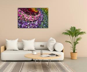 Tablou modern pe panou - colorful flowers2