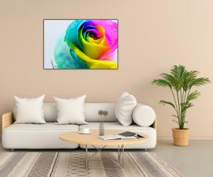 Tablou modern pe panou - multicolored rose2