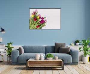 Tablou modern pe panou - colorful tulip flowers1