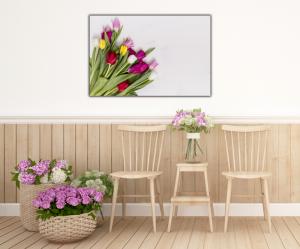 Tablou modern pe panou - colorful tulip flowers4