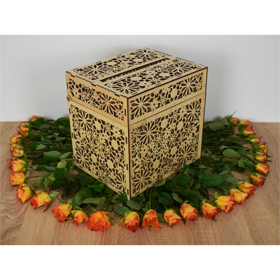 Cutie pentru dar din lemn natural1