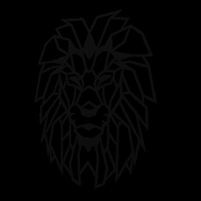 Decoratiune perete - Geometric lion0