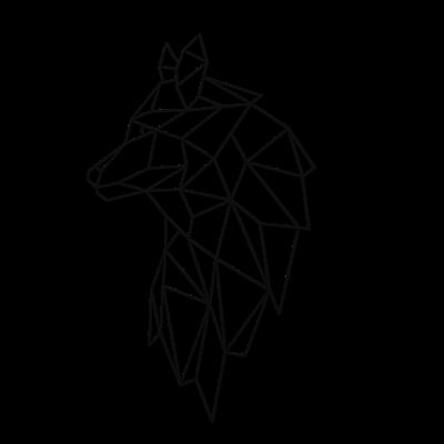 Decoratiune perete - Geometric wolf0