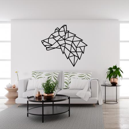 Decoratiune perete - Geometric wolf head1
