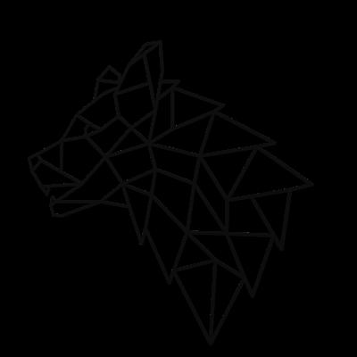 Decoratiune perete - Geometric wolf head0