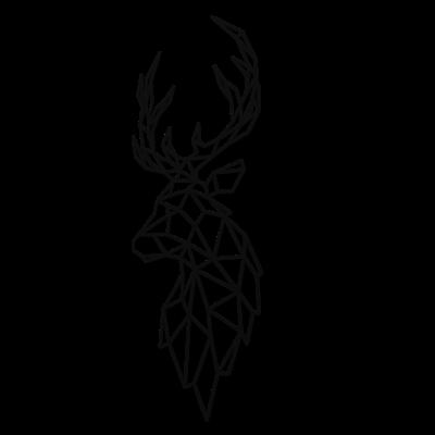 Decoratiune perete - Polygonal deer0