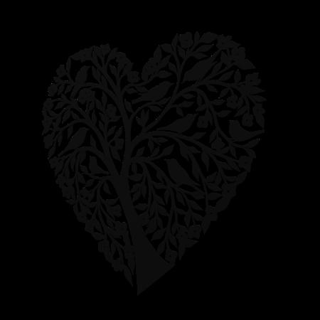 Decoratiune perete - Tree heart with birds [0]