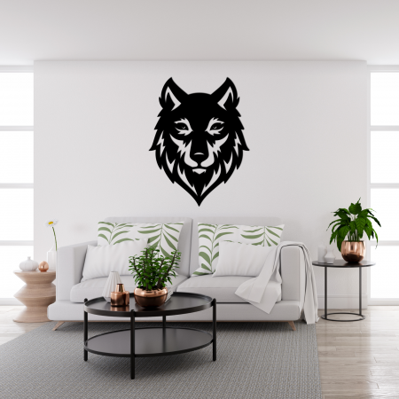 Decoratiune perete - Wolf head1