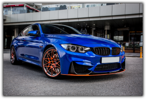 Tablou modern pe panou - blue sport car0