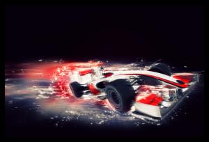 Tablou modern pe panou - F1 car0