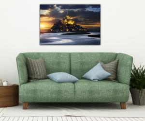 Tablou modern pe panou - France Mont Saint Michel Abbey3