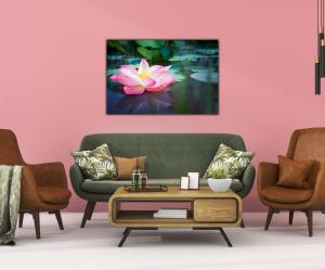 Tablou modern pe panou - pink lotus flower2