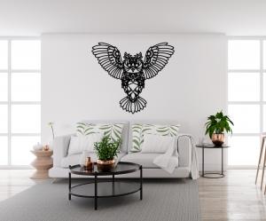Decoratiune perete - monoline owl design3