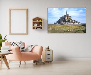 Tablou modern pe panou - Mont Saint Michel Abbey1