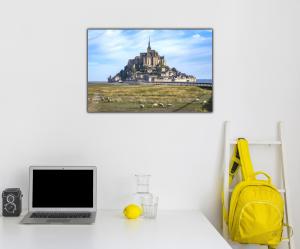 Tablou modern pe panou - Mont Saint Michel Abbey2
