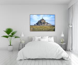 Tablou modern pe panou - Mont Saint Michel Abbey4