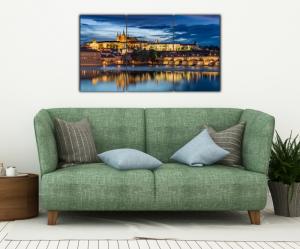 Tablou modern pe panou - Prague castle sunset4