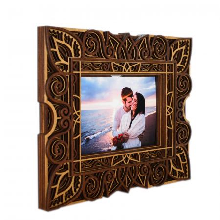 Rama foto mandala din lemn - RFS003 [3]
