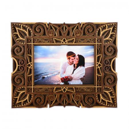 Rama foto mandala din lemn - RFS003 [2]