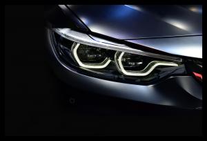 Tablou modern pe panou - led headlights modern car0