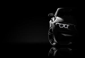 Tablou modern pe panou - black sport car0