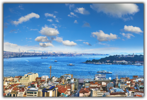 Tablou modern pe panou - panoramic view Galata tower Istanbul0