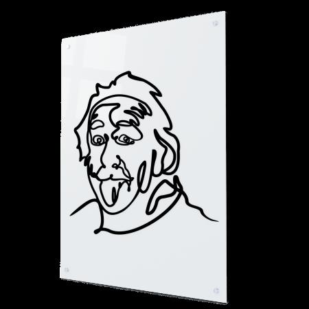Tablou art line din sticla acrilica - Einstein0