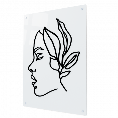 Tablou din sticla acrilica - Femeia tropicala [0]