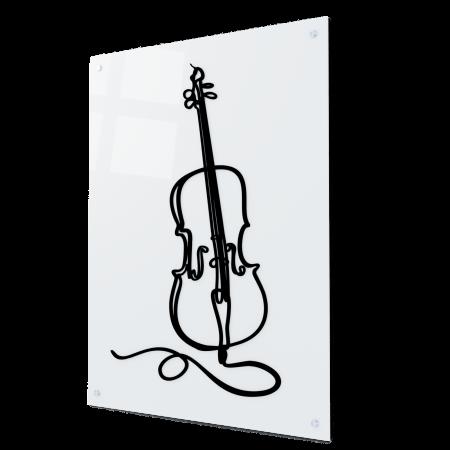 Tablou art line din sticla acrilica - Violoncelle0
