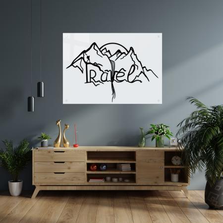 Tablou art line din sticla acrilica - Travel Mountains1