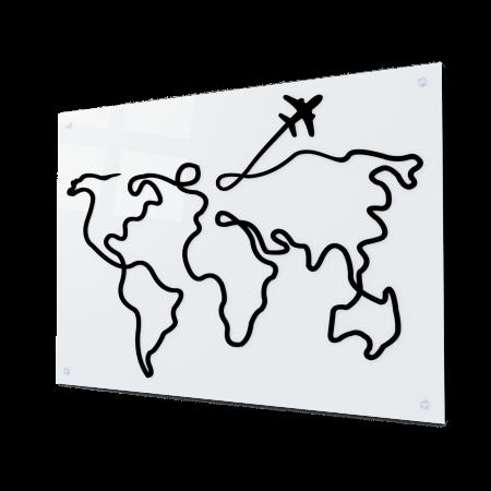 Tablou art line din sticla acrilica - Trip around the world0