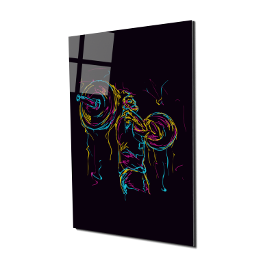 Tablou din sticla acrilica - abstract strong man0