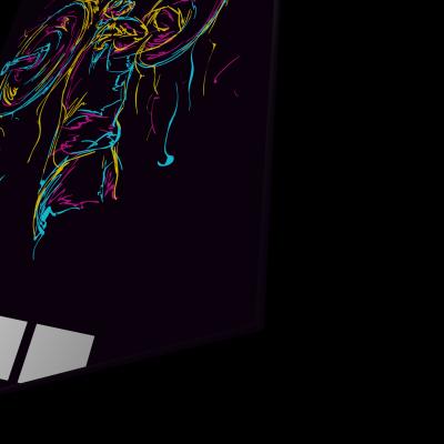Tablou din sticla acrilica - abstract strong man1